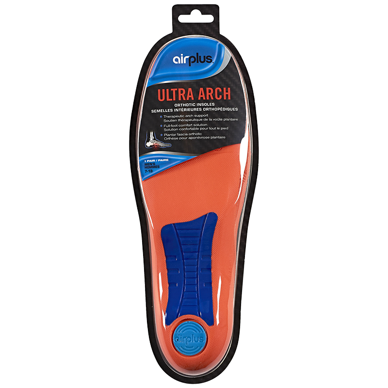 Airplus Ultra Arch Orthotic Insoles Men's - 7-13
