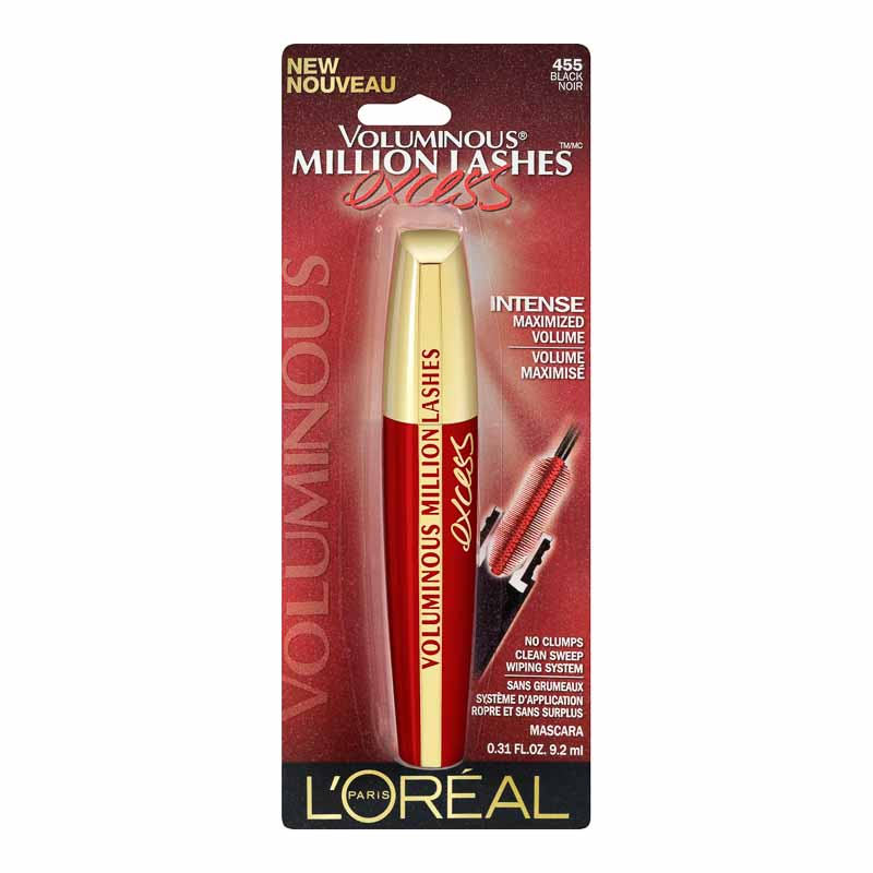 L'Oreal Voluminous Million Lashes Excess Mascara - Black