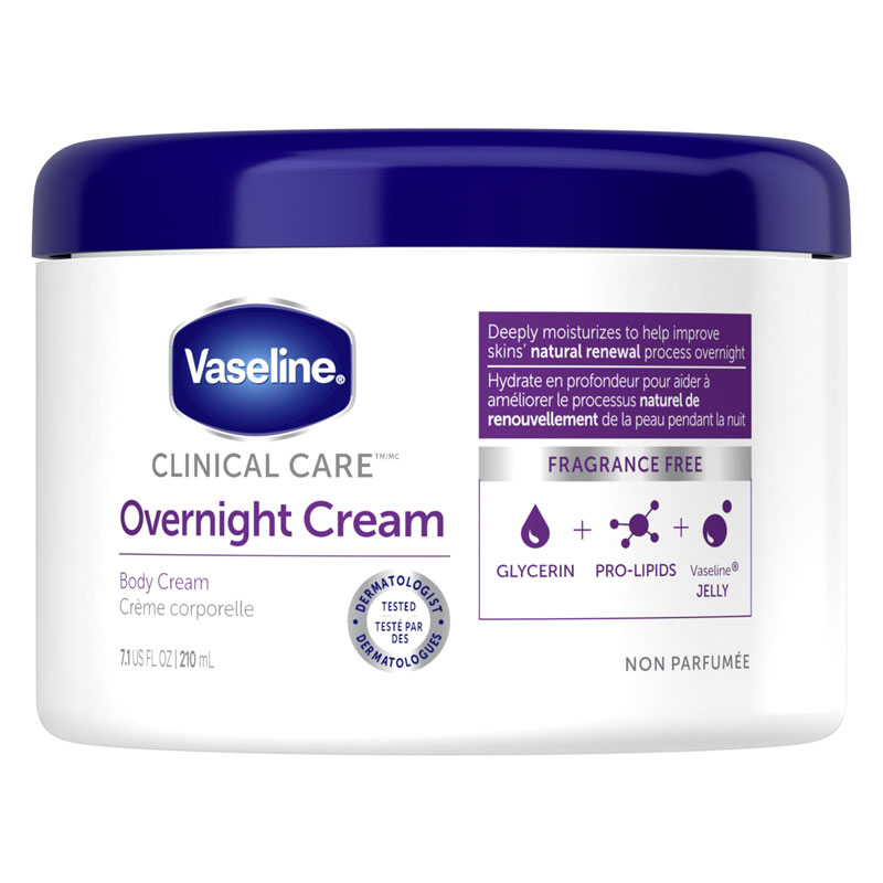 Vaseline Clinical Care Extremely Dry Skin Rescue Overnight Cream - 201g