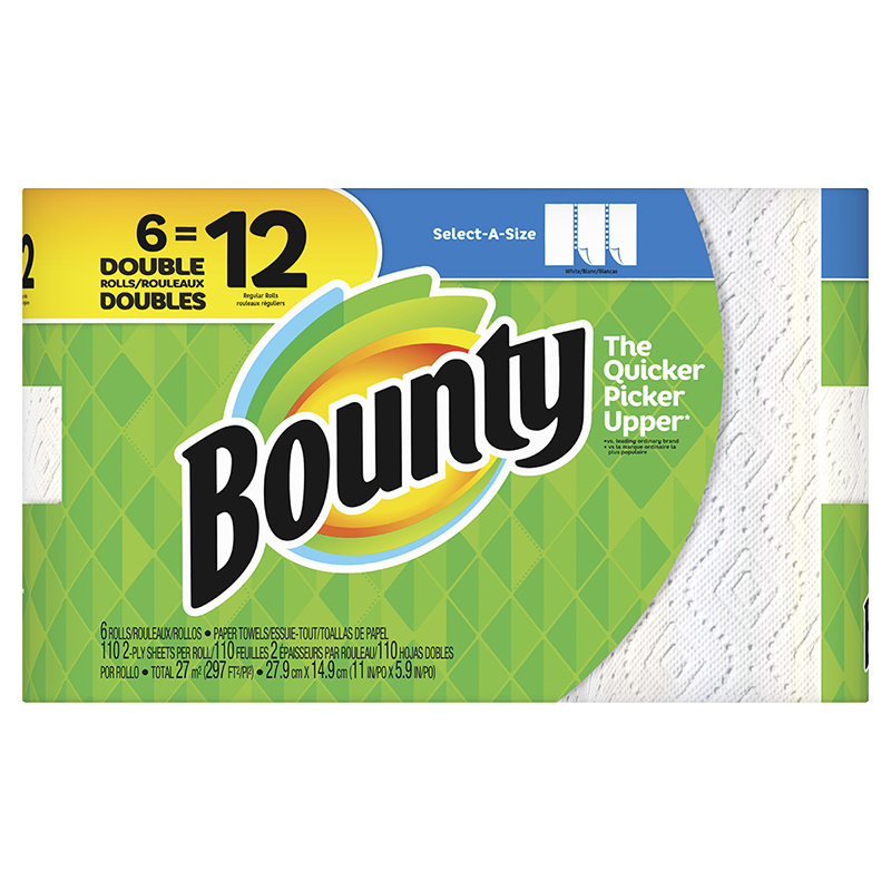 Bounty Paper Towels Select-A-Size - 6 Double Roll