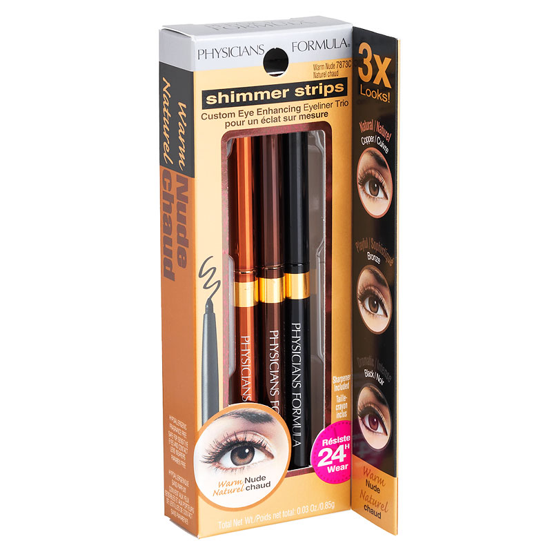 Physicians Formula Shimmer Strips Custom Eye Enhancing Eyeliner Trio - Warm Nude