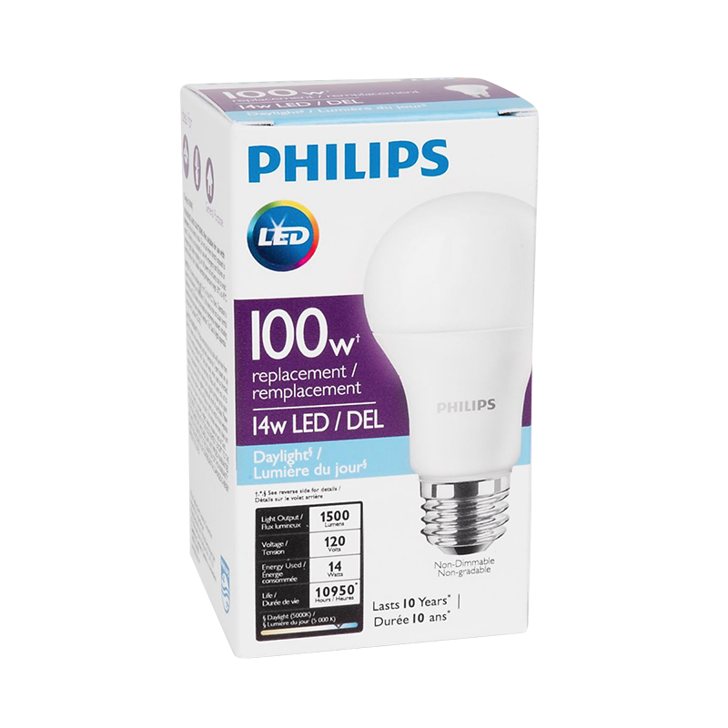 Philips LED Light Bulb - Daylight - 14w/100w