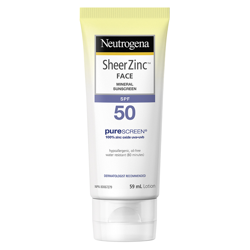 Neutrogena Sheer Zinc Face Mineral Sunscreen - SPF50 - 59ml