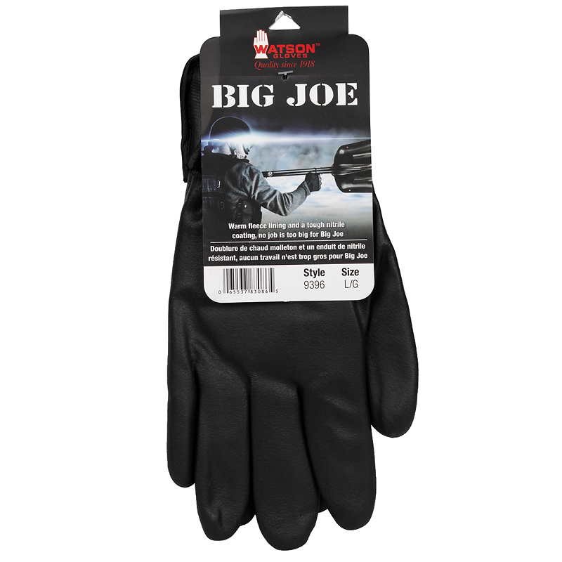 Watson Big Joe Work Gloves - Black - 9396-L