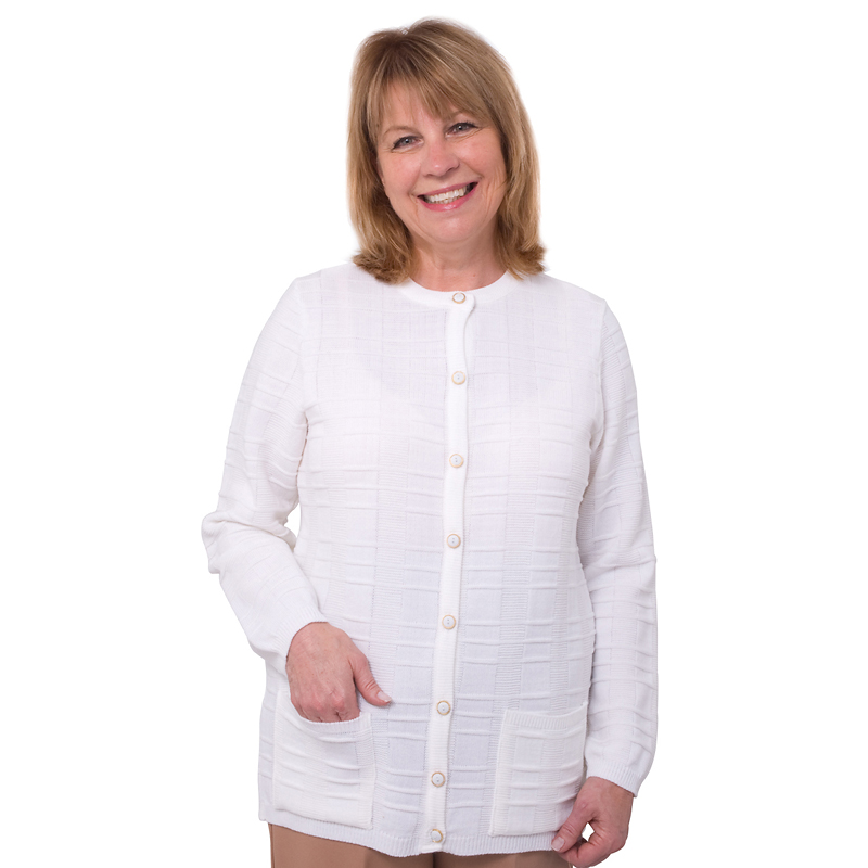 Silvert's Women's Cardigan With Pocket - 2XL - 4XL