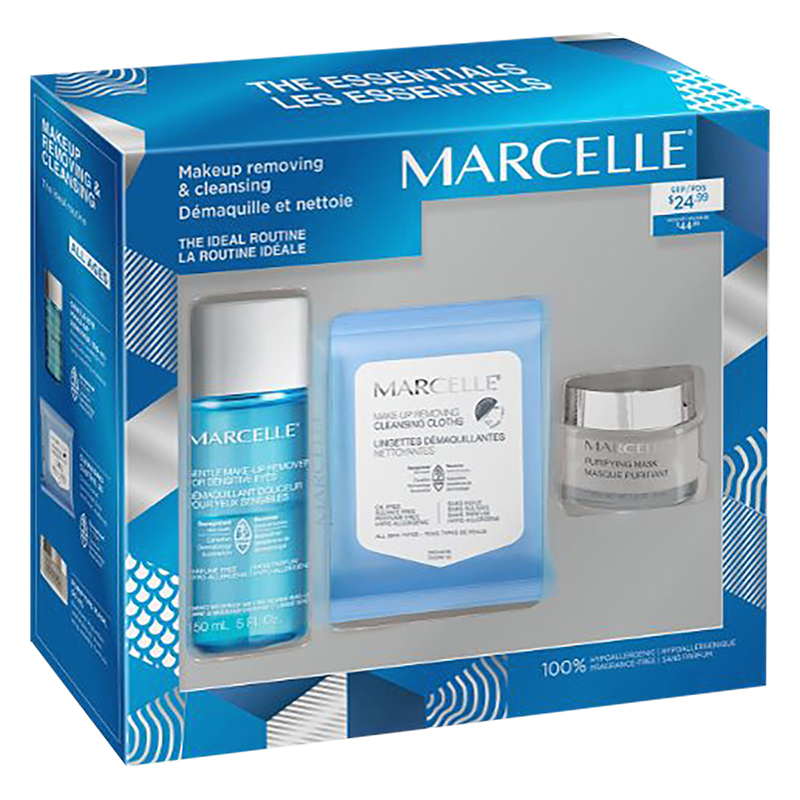 Marcelle Makeup Removing & Cleansing Face Care Set - 3 piece