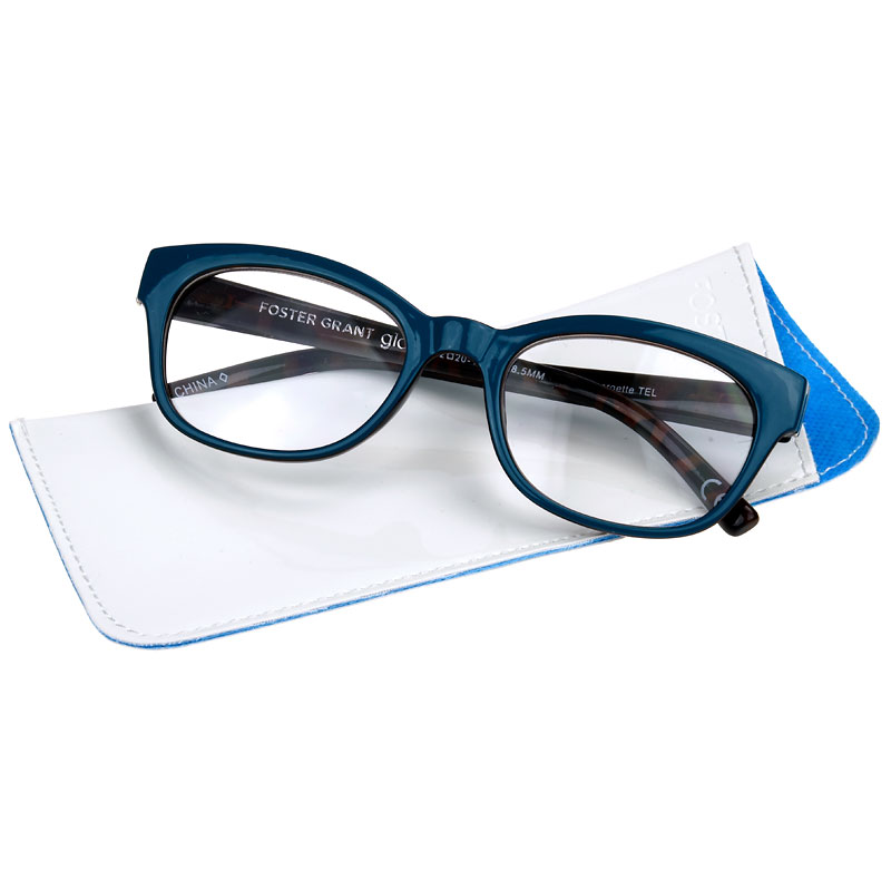 b3306c5edaa Foster Grant Georgette Women s Reading Glasses - Teal - 1.75 ...