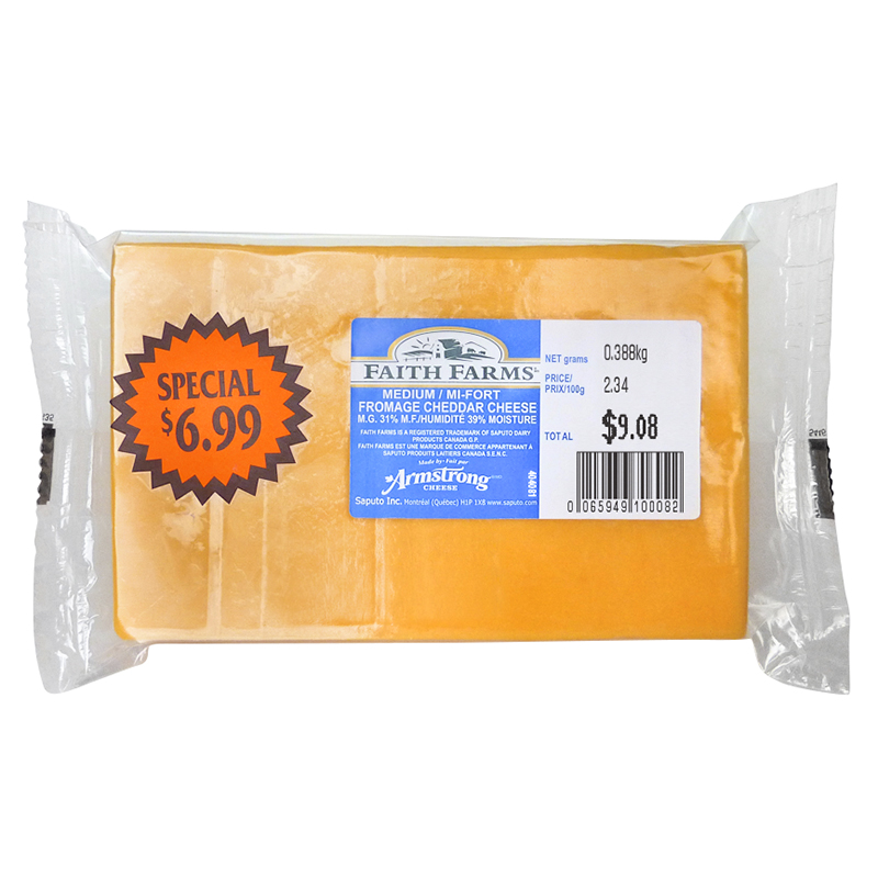 Faith Farms Medium Cheddar - 380g