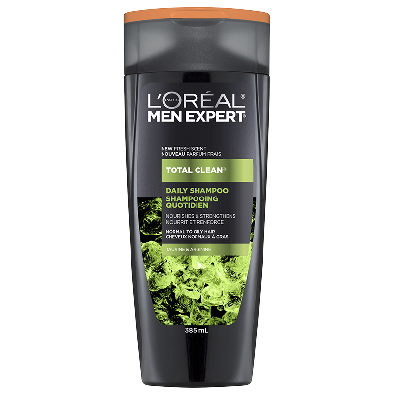 L'Oreal Men Expert Total Clean Daily Shampoo - Taurine & Arginine - 385ml