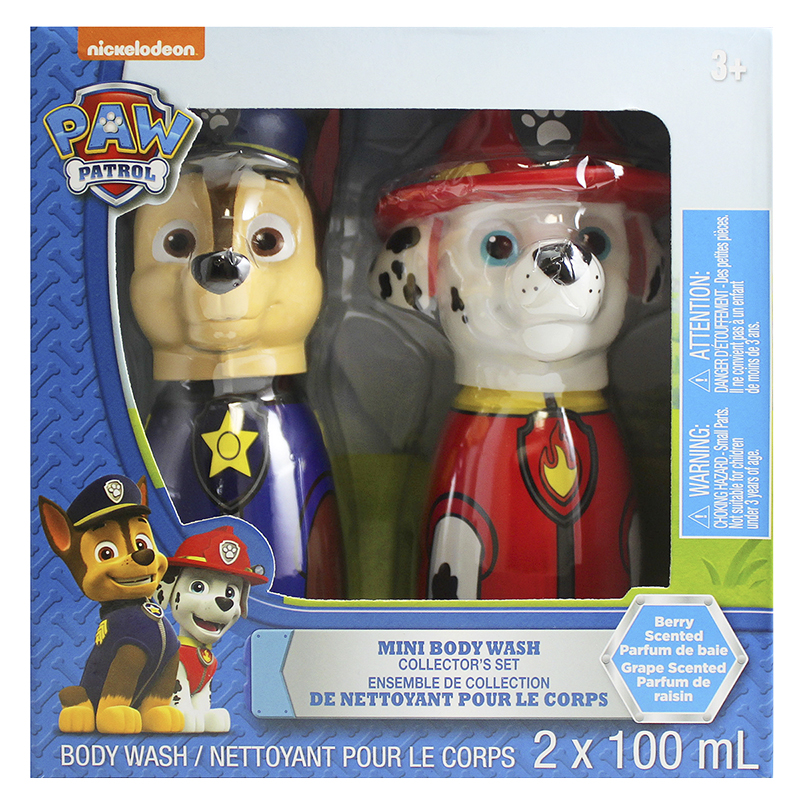 Nickelodeon Paw Patrol Mini Body Wash Collectors Set - Berry/Grape - 2 x 100ml