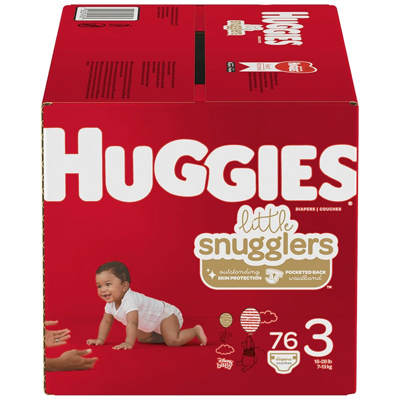 Huggies Little Snugglers Diapers - Size 3 - 76's