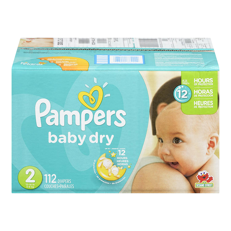 Pampers Baby Dry Diapers Super Pack - Size 2 - 112's