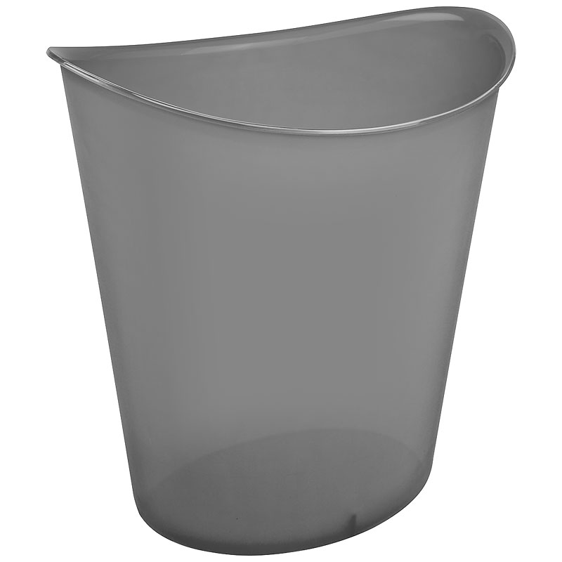 Sterilite Oval Wastebasket - Grey - 11.4L