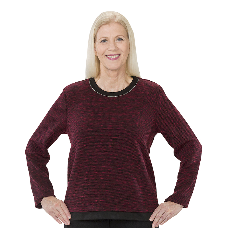 Silvert's Women's Open Back Crew Neck Top - Small-XL