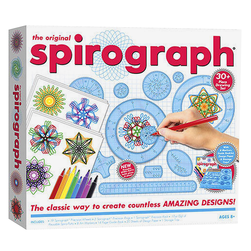 Spirograph Kit with Markers - 30 piece