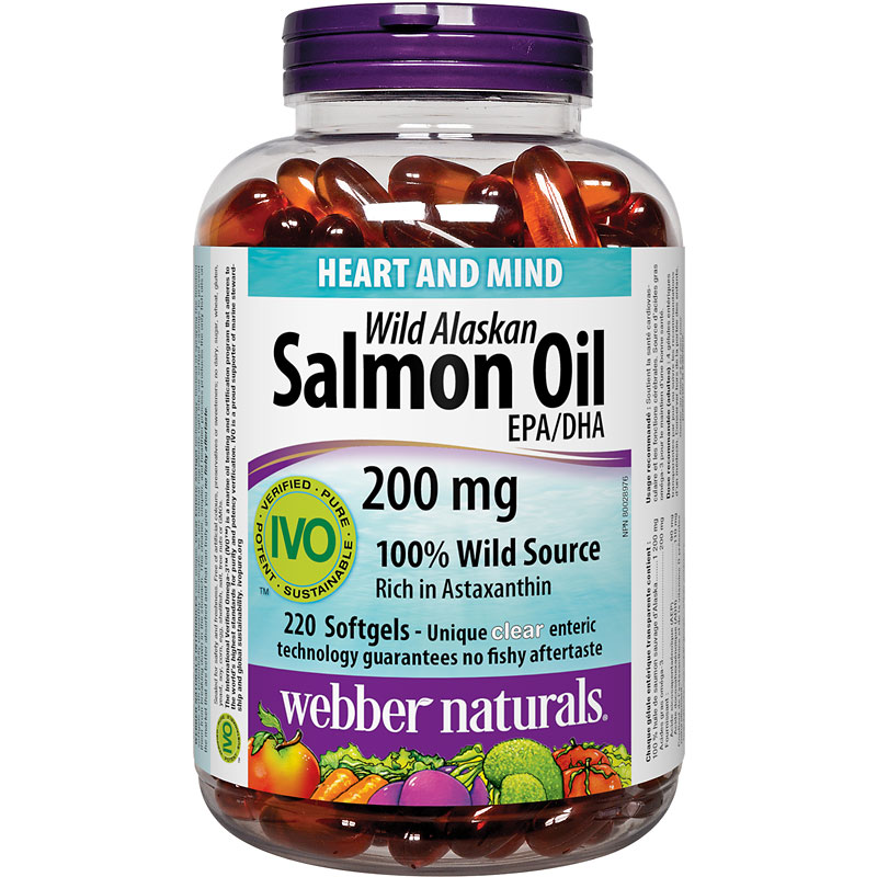 Webber Naturals Wild Alaskan Salmon Oil Softgels - 220's