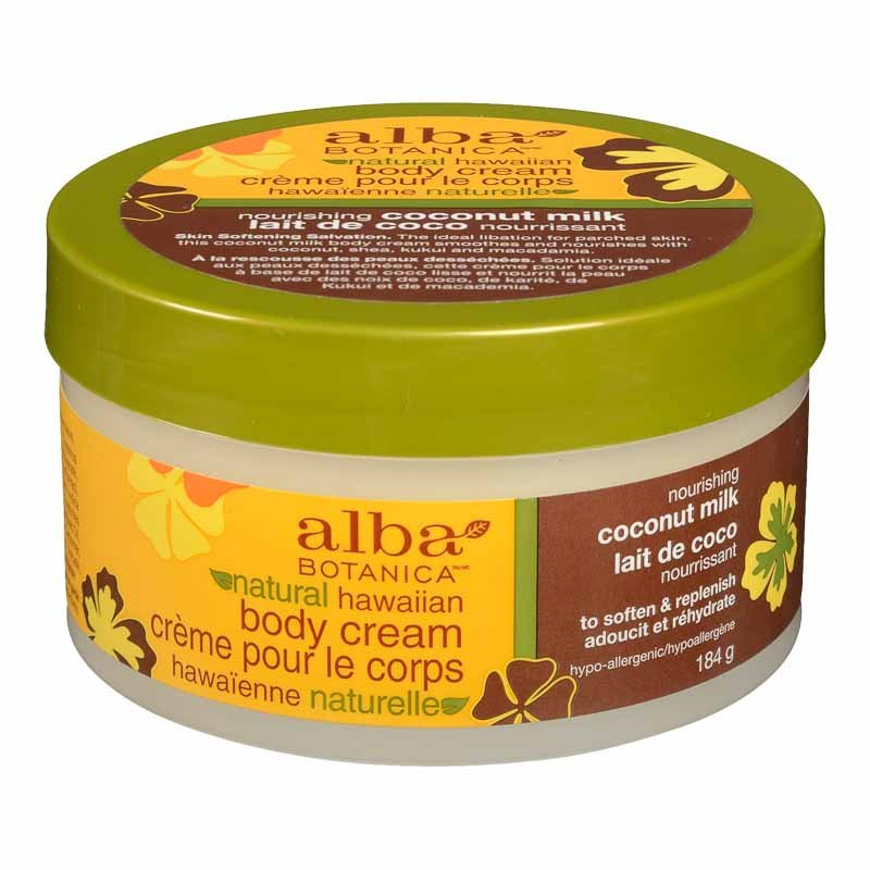Alba Hawaiian Body Cream - Coconut Milk - 180g