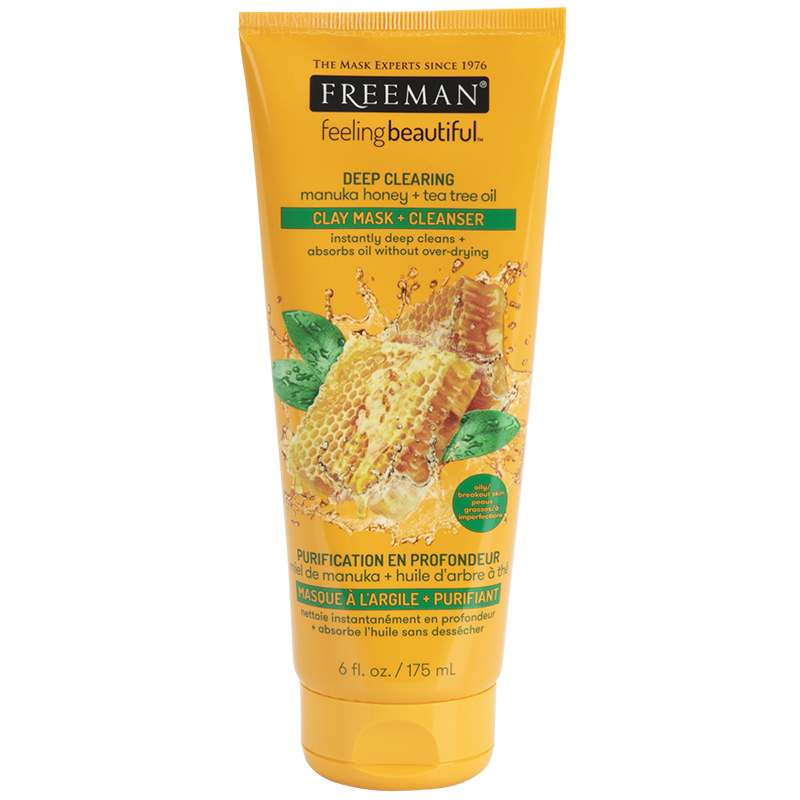 Freeman Clay Mask & Cleanser - Manuka Honey & Tea Tree Oil - 175ml