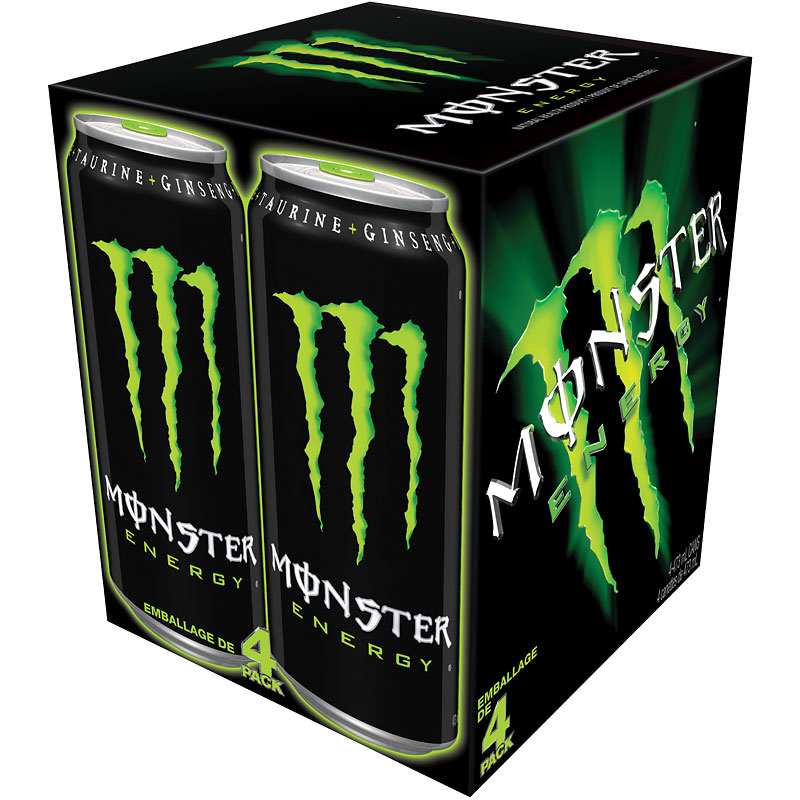 Monster Energy Drink - 4x473ml