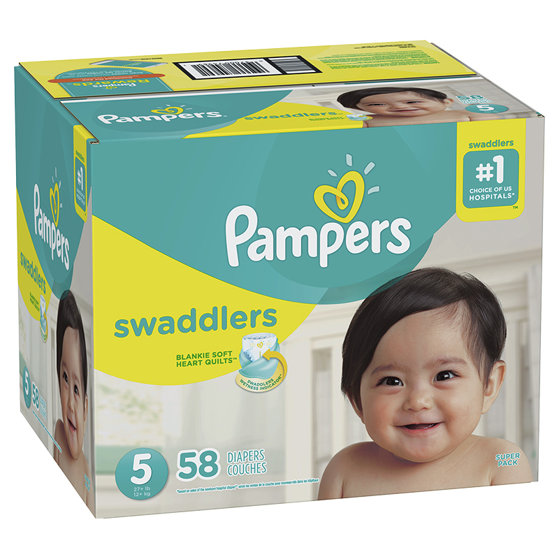Pampers Swaddlers Diapers - Size 5 - 58's