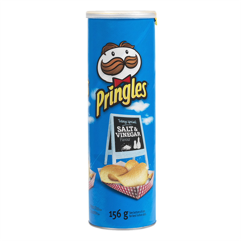 Pringles Potato Chips - Salt & Vinegar - 156g