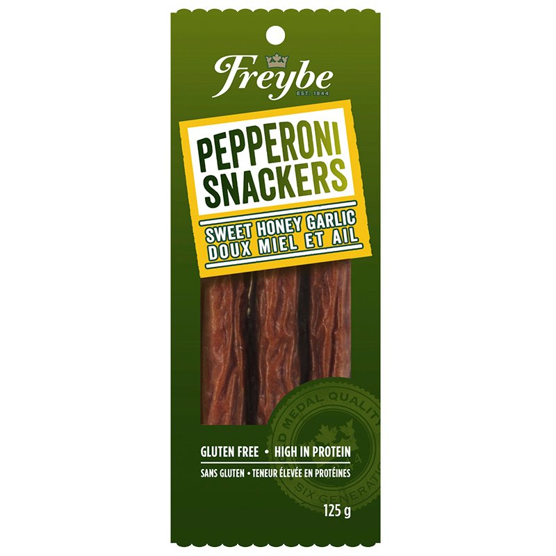 Freybe Pepperoni Snackers - Honey Garlic - 125g