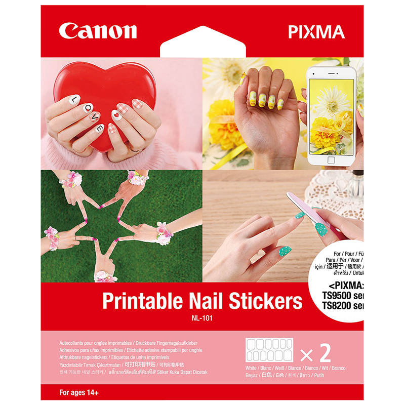 photograph regarding Printable Nail Art known as Canon Printable Nail Stickers - NL-101