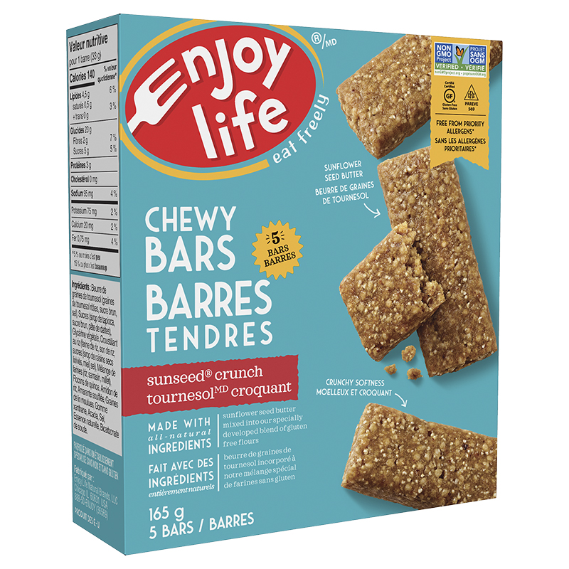 Enjoy Life Chewy Bars - SunSeed Crunch - 5 pack