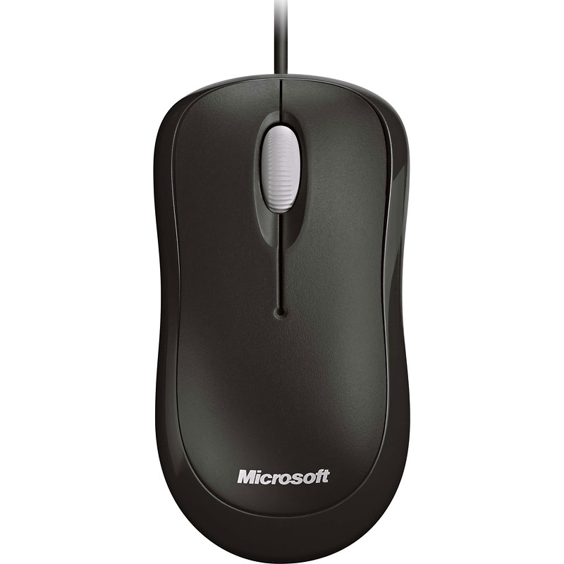 Microsoft Ready Mouse - Black - P58-00063