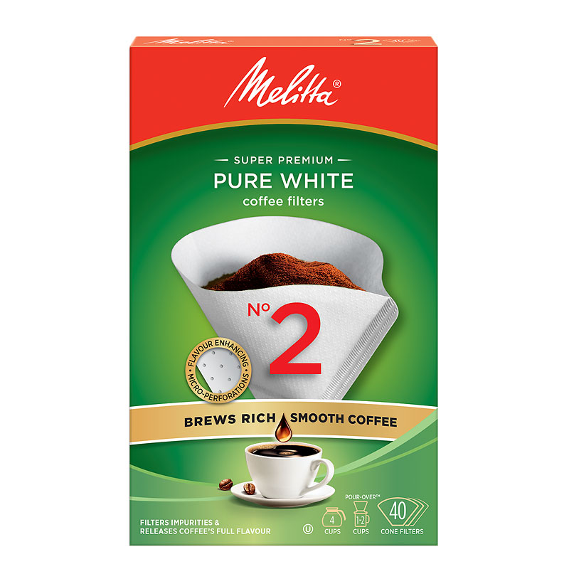 Melitta Coffee Filters - No.2 - White - 40's