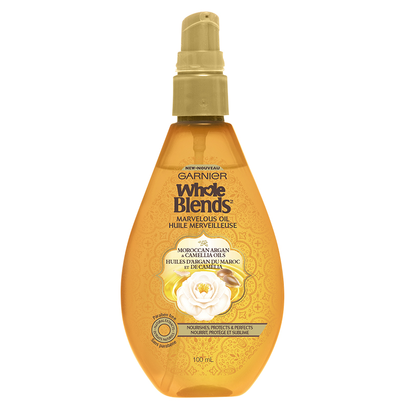 Garnier Whole Blends Marvelous Oil - Moroccan Argan & Camellia Oils - 100ml