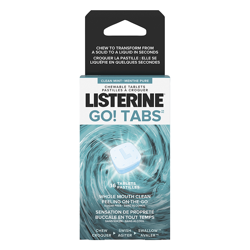 Listerine Go Tabs Chewable Tablets - 16's