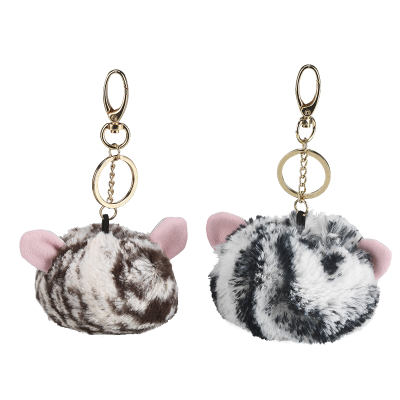 London Drugs Pom Pom Key Rings with Striped Ears Assorted