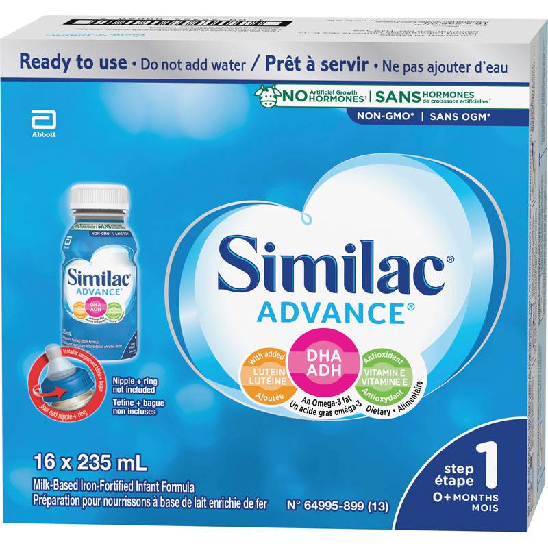 Similac Advance Step 1 Infant Formula - Ready To Feed - 16 x 235 ml