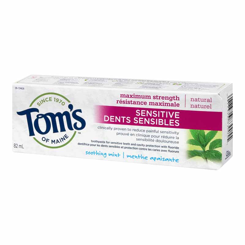Tom's of Maine Maximum Strength Sensitive Fluoride Toothpaste - Soothing Mint - 82ml