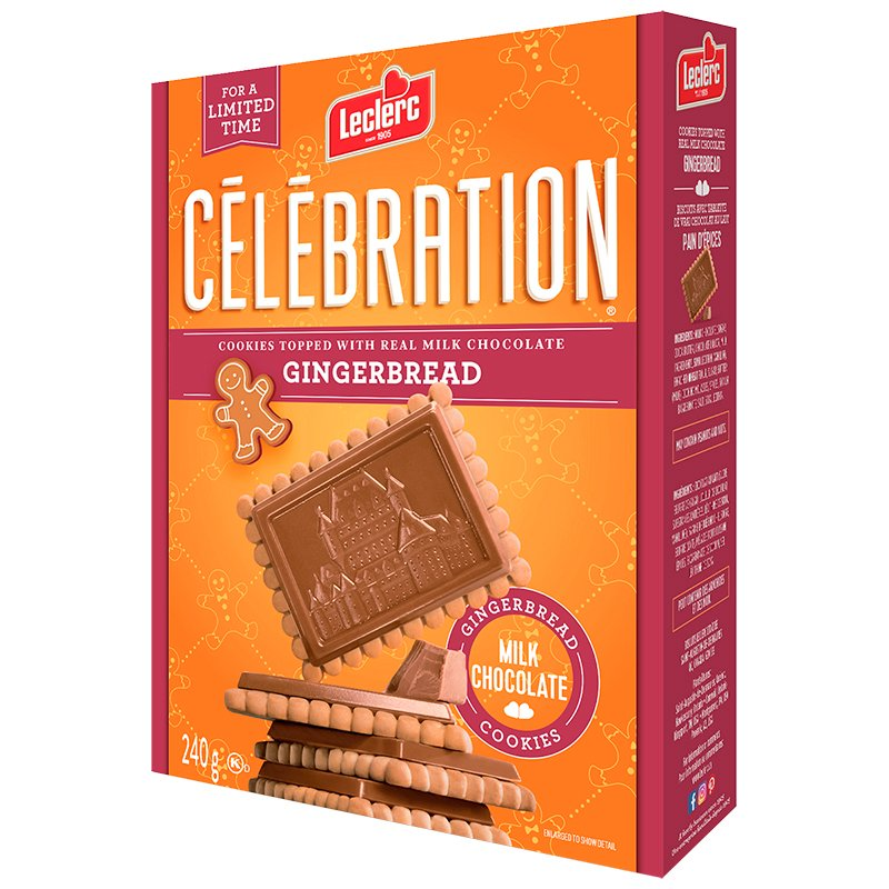 Leclerc Celebration Cookies - Gingerbread - 240g