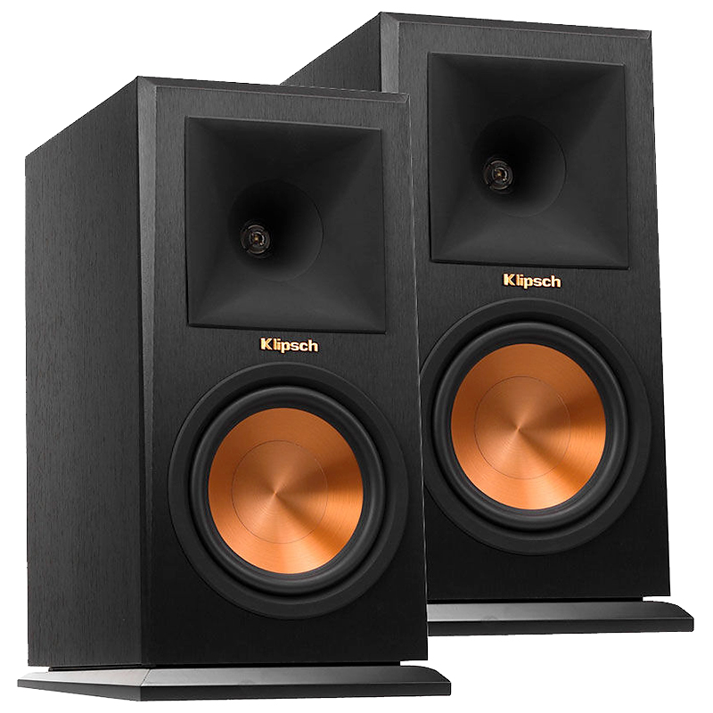 klipsch pair r bookshelf speakers