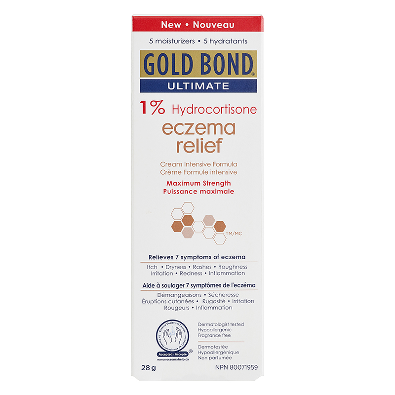 Gold Bond Ultimate Eczema Relief Cream - 1% Hydrocortisone - 28g
