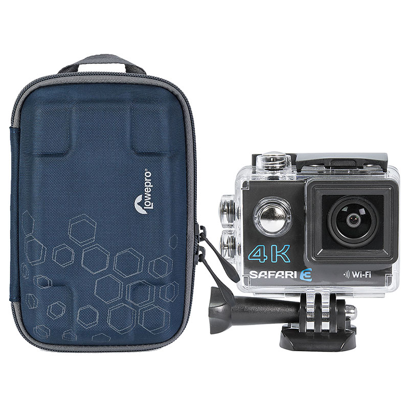 Safari 3 4K Action Camera with Lowepro Dashpoint AVC1 Camera Pouch - PKG #3333