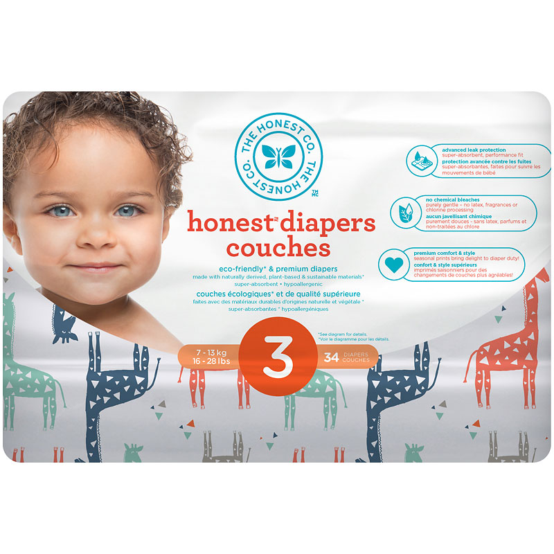 The Honest Company Honest Diapers - Size 3 - 34s