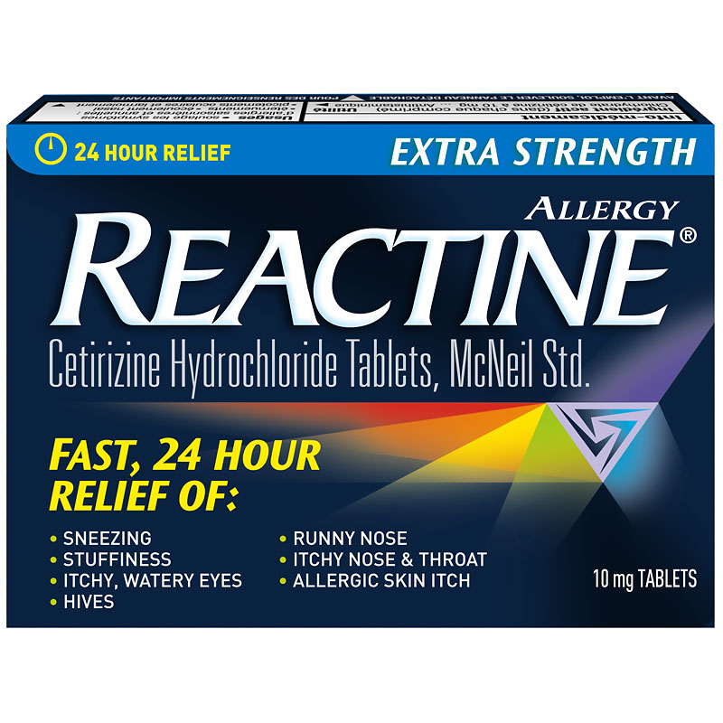 Reactine Allergy Tablets Extra Strength 10mg - 84's