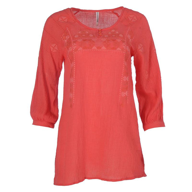 Lava Long Sleeve Top - Coral