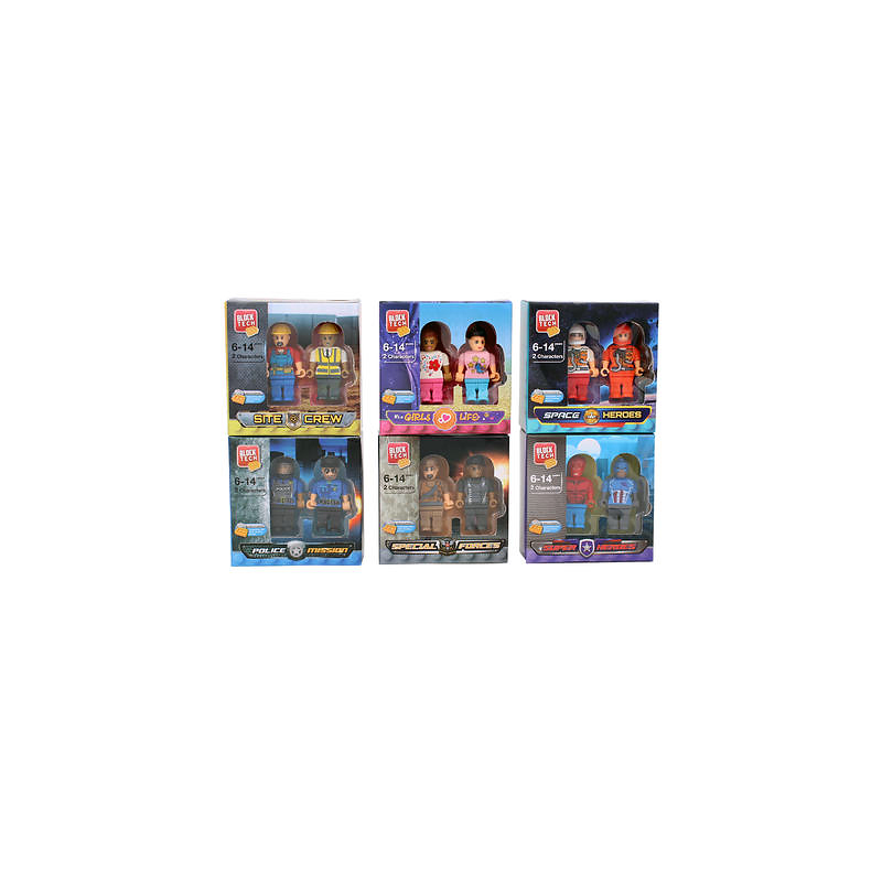 Block Tech Figures - 2 pack - Assorted
