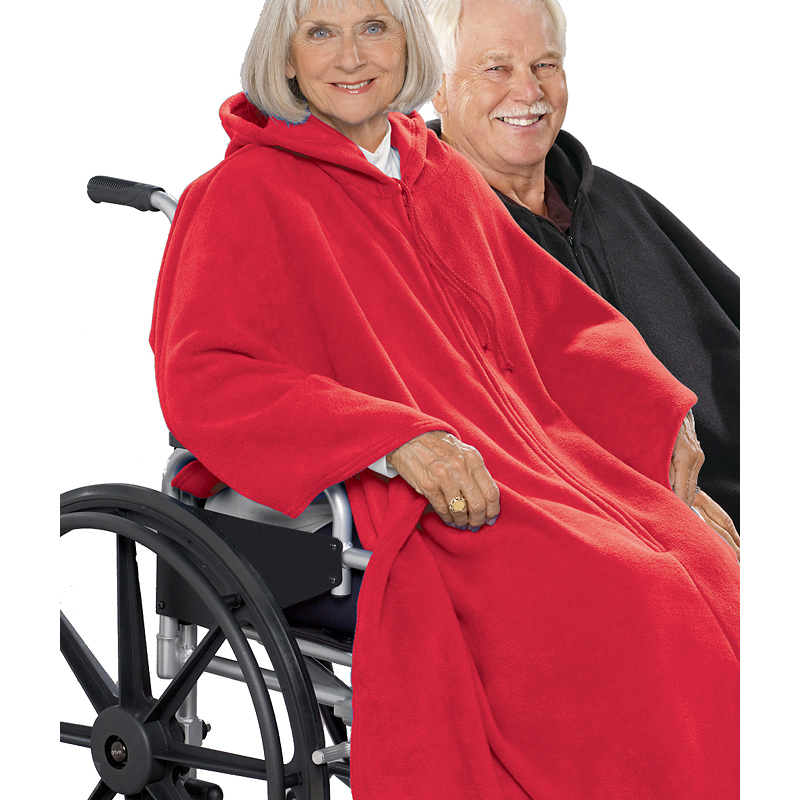 Silvert's Polar Fleece Wheelchair Cape - Red