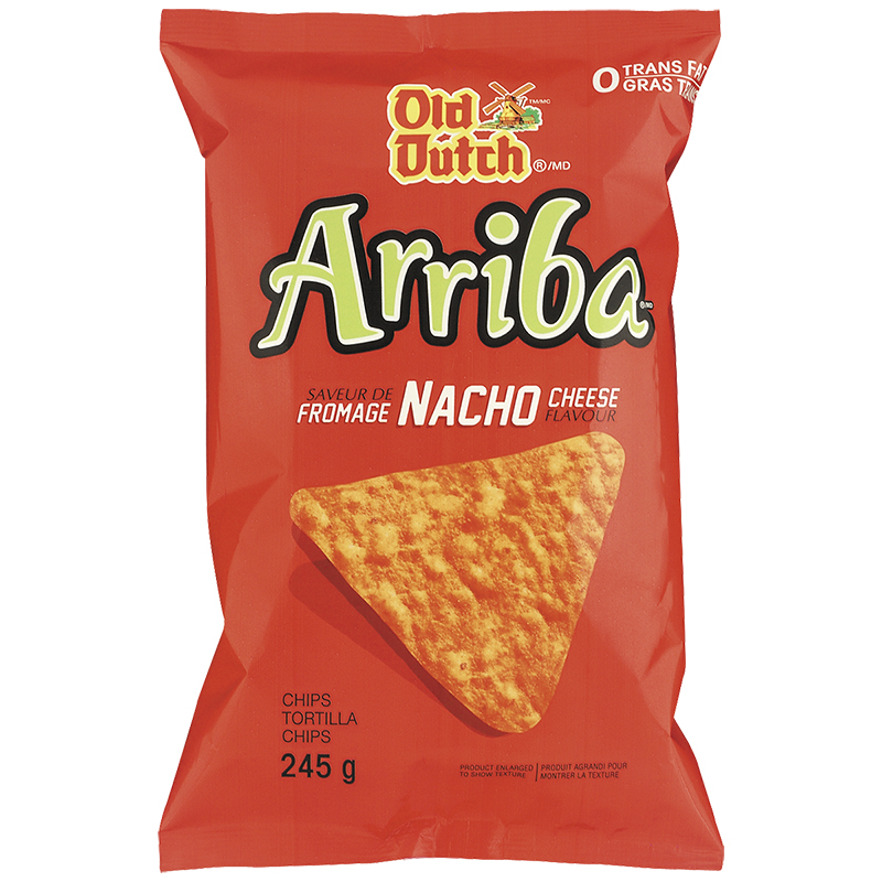 Old Dutch Arriba Tortilla Chips - Nacho Cheese - 245g