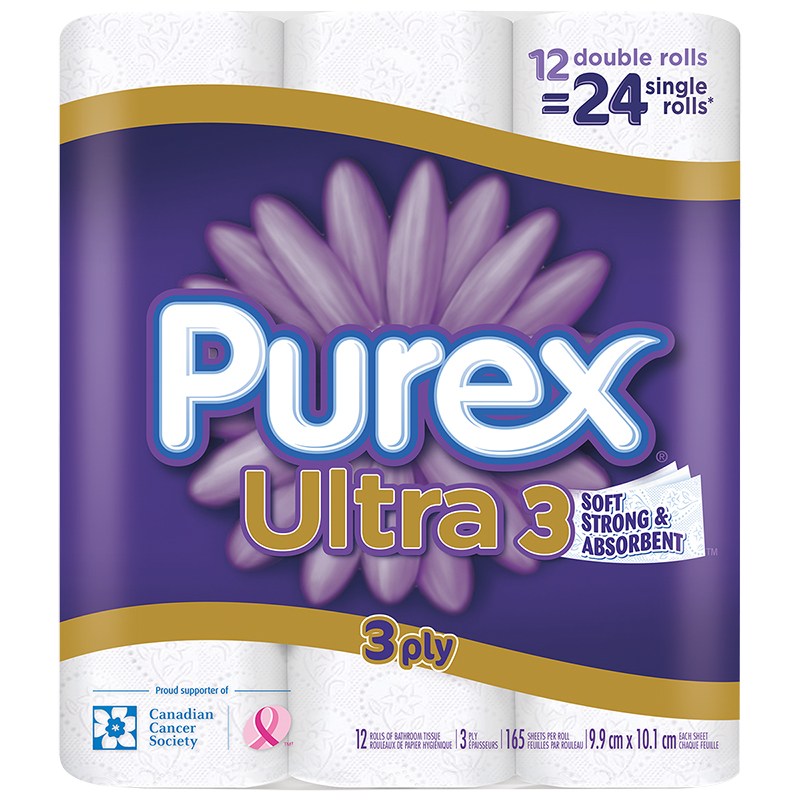 Purex Ultra Double Roll Bathroom Tissue - 12's