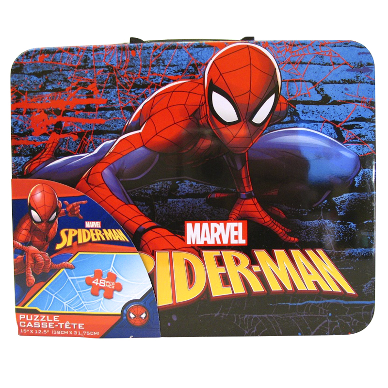 Spiderman Puzzle Tin - Assorted - 48 Pieces