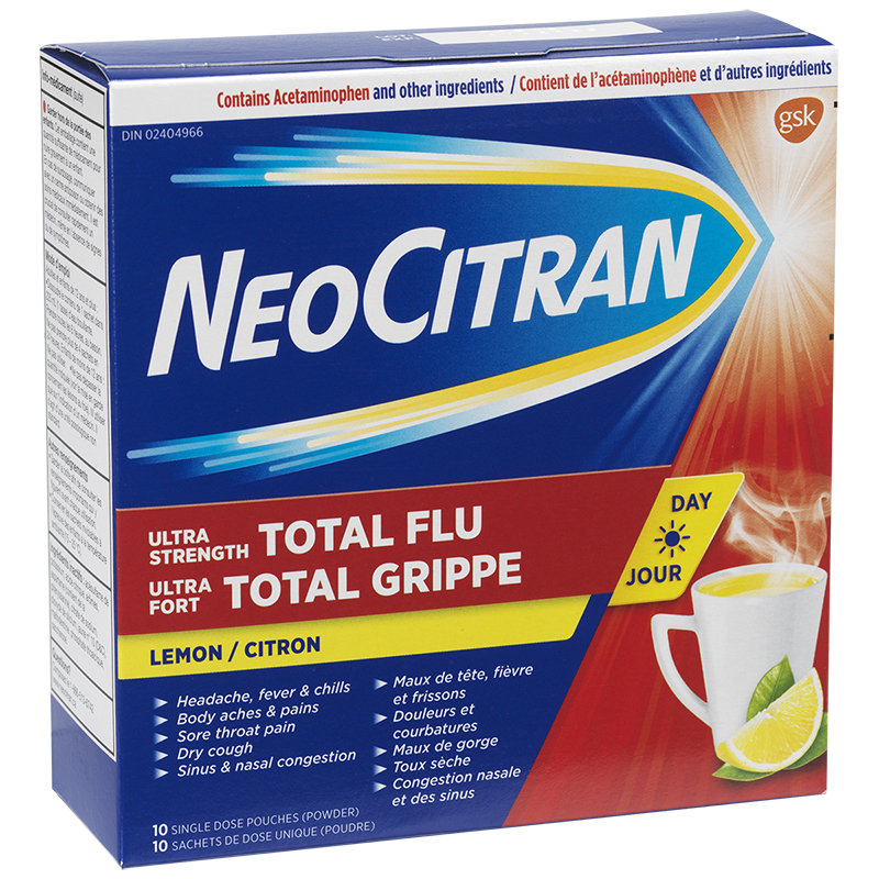 Neo Citran Ultra Strength Total Flu Day - 10's