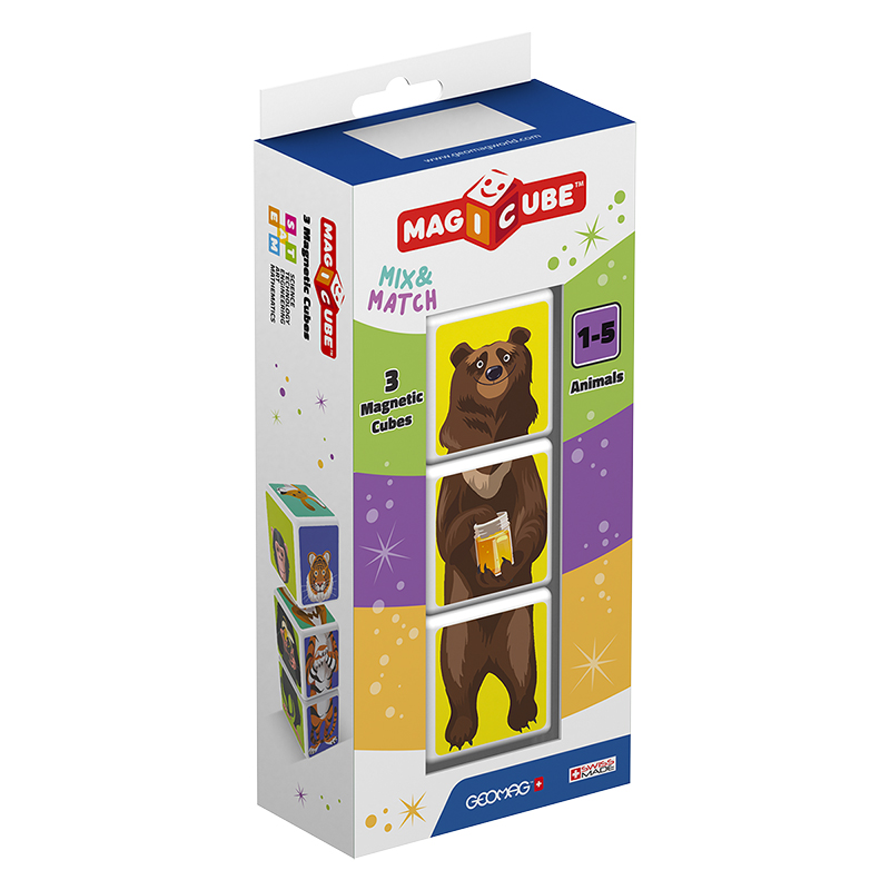 Geomag Magicube Mix and Match Animals - 3 Piece