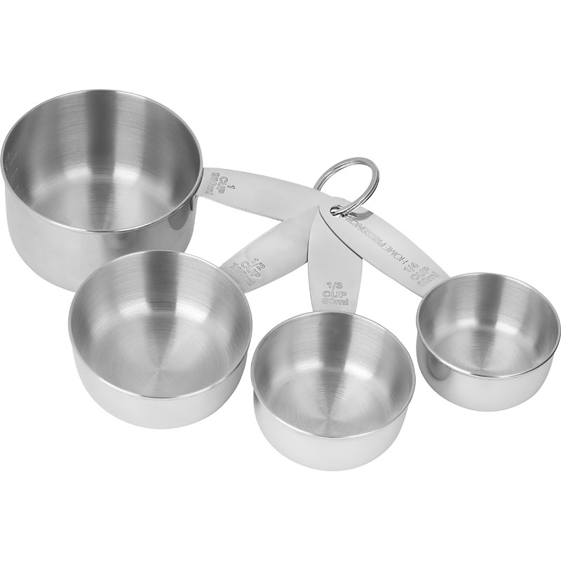 Trudeau Maison Measure Cups - Stainless Steel - Set of 4